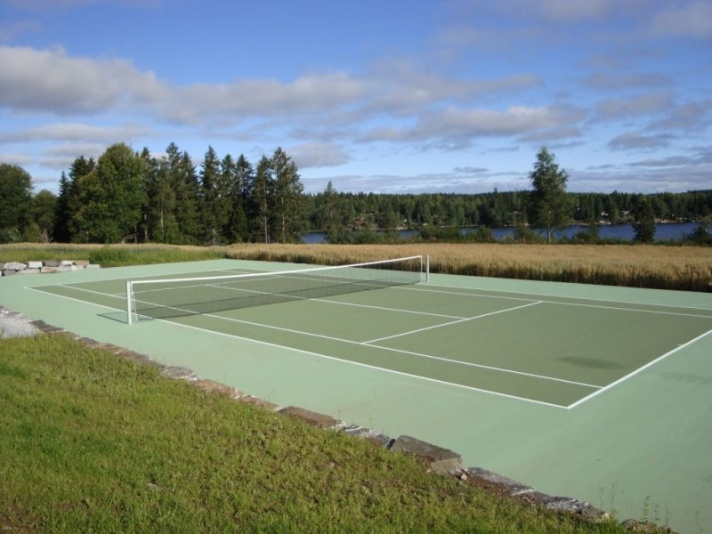 Теннисный корт на даче своими руками 70